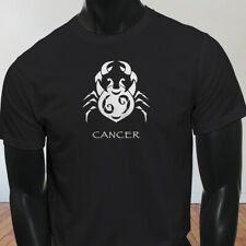 Water Moon Ruby Zodiac Cancer White Crab Astrological Sign Mens Black T-Shirt