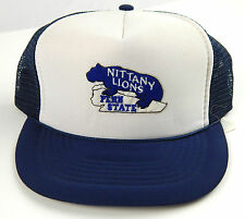 Vintage Never Worn Penn State NITTANY LIONS Blue trucker Hat Adjustable Snapback