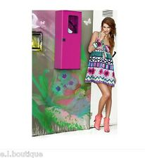 Killah Miss Sixty hot pink multi mini - knee strappy loose fit dress BNWT Summer