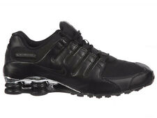 CLASSIC MENS NIKE SHOX NZ RUNNING SHOES TRAINERS BLACK / CHROME / BLACK