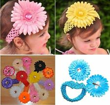 SET Hairband + Hair clip XXL Flower Blooms Baby Girl accessories Headband Ribbon