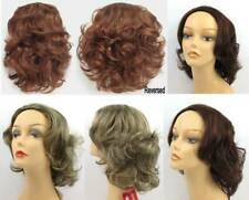 """14"""" WAVY 3/4 CAP CURLS CURLY FALL PIECE HAIR EXTENSIONS W/COMB HAIRPIECE HEIDI"""