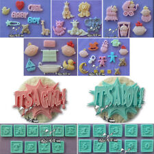 Baby Shower Silicone Moulds Christening ALPHABET MOULDS Girl Boy Pram Animals