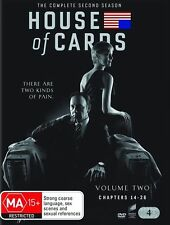 House of Cards: The Complete Second Season 2 (DVD, 2014, 4-Disc Set) NEW!!!