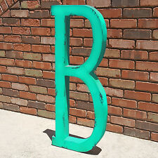 "HUGE 40"" Rustic Letter Metal Vintage Marquee Sign Wedding Letters - 14 COLORS"