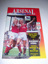 ARSENAL v BLACKBURN ROVERS 1992/93 - PREMIER LEAGUE - FOOTBALL PROGRAMME