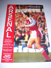 ARSENAL v SHEFFIELD WEDNESDAY 1991/92 - DIVISION 1 - FOOTBALL PROGRAMME