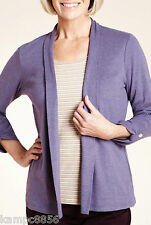 New M&S Purple Classic Collection Striped Mock Layer Top Sz UK 20