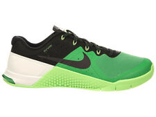 NEW MENS NIKE METCON 2 CROSS TRAINING SHOES TRAINERS VOLTAGE GREEN / WOLF GREY