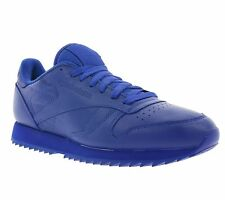 NEW Reebok CL Leather Ripple Mono Shoes Men's Sneakers Sneakers Blue AR2350
