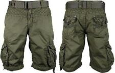 NEW MENS AFFLICTION GREEN OBSERVATION CARGO SHORTS SIZE 32 BELTED 11OWS089