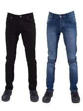 Seven Series New Mens Skinny Fit Stretch Jeans Stone Washed Biker Denim Pants