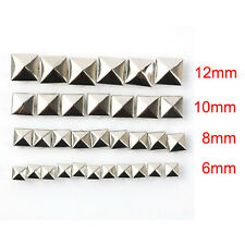 100x Cool Unique Pyramid Spikes Studs Spots Rivet Punk Rock DIY Leathercraft Bag