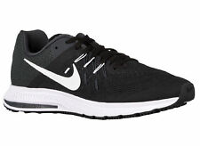 NEW MENS NIKE ZOOM WINFLO 2 RUNNING SHOES TRAINERS BLACK / ANTHRACITE / WHITE