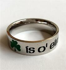 Shamrock Stainless Steel Ring Band Celtic Irish Shamrock St. Patricks Day USA