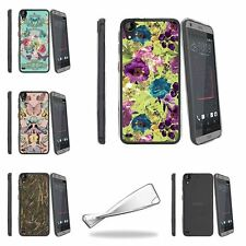 For HTC Desire 530 Slim Fitted Flexible TPU Case Butterfly Flower