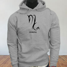 Horoscope Zodiac Water Mars Scorpio Astrological Sign Mens Gray Hoodie
