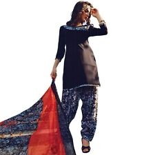 Ready To Wear French Crepe Printed Salwar Kameez Suit Indian Dress-Milly-3003