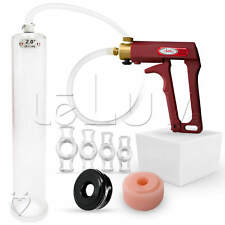 "LeLuv MAXI 12"" Penis Pump +  TPR Seal, Soft Donut & Erectile Dysfunction Rings"