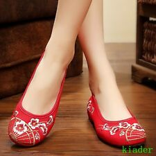 Chinese Traditional Women embroidery Flat Oxford Canva Casual Loafer Ballet Shoe