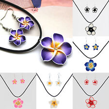 NT Fashion New Polymer Clay Flower Jewelry Sets Necklace Pendants Earrings Hot