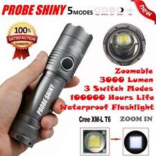 X800 3000Lumens CREE XML T6 LED Zoomable 18650 AAA Flashlight Torch Light lot