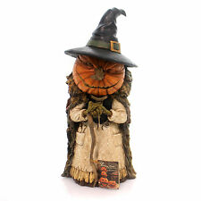 Halloween INTO THE WOODS WITCH Polyresin Pumpkin Face Green Hands Td5051
