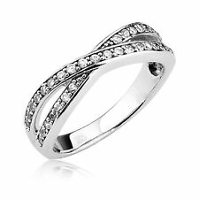Sterling Silver Engagement Wedding Half Eternity Ring Round Cubic Zirconia CZ