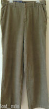 ~Croft & Barrow~ Taupe Flat Front Corduroy Pant $60 Size 32x32/38x32 NWT