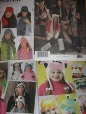 Pattern HATs various styles - choose from 4 sewing patterns Adult Teen Child hat