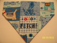 Over Collar REVERSIBLE Bandana~Fetch DOG Patch Gingham