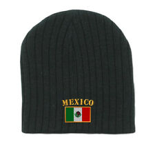 MEXICO FLAG Embroidery Embroidered Beanie Skull Cap Hat