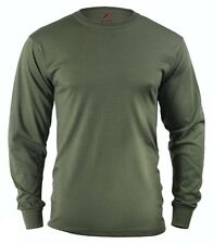 Olive Drab Green LONG SLEEVE T-Shirt US Marine Corps Army Navy Seabees USMC S-3X