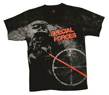 US ARMY Special Forces T-Shirt  Airborne Greeen Beret Navy Seals SCOPE Sniper