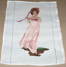 """Thomas Lawrence """"Pinkie"""" Young Girl in Dress Large Preworked Needlepoint Canvas"""