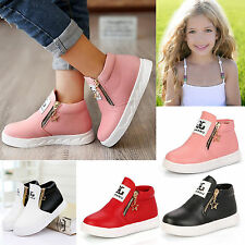 New Cute Baby Toddler Casual Boots Kids Short Martin Zipper Trainers Size 10-5.5