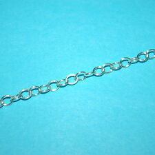 WHOLESALE LOTS 4x5mm Oval CABLE CHAIN 925 Sterling Silver BULK By the foot