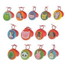 Kid Child Cartoon Animal Wooden Castanet Toy Musical Percussion Instrument Toys