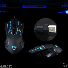 3200 DPI Buttons USB LED Optical Wired Professional Gaming Mouse For PC Laptop