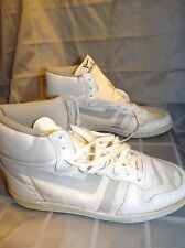 NEW VTG HANG TEN SNEAKERS WHITE HIGH TOP 80S NOS YOUTH 3.5 4.5