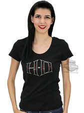 Harley-Davidson Ladies Rhinestone Studded H-D Bling Black Short Sleeve T-Shirt