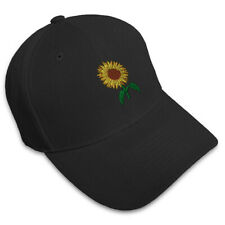 Sunflower Embroidery Embroidered Adjustable Hat Baseball Cap