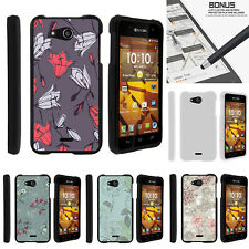 For Kyocera Hydro Wave | Air C6740 Case Hard Snap On 2 Piece Elegant Flowers