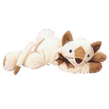 TY Pillow Pal - MEOW the Cat (Tan Version) (13.5 inch) - MWMTs Stuffed Animal