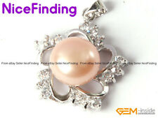 Charming Freshwater Pearl Necklace Pendant Rhinstone Beads Fashion Women Jewelry