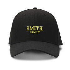 SMITH FAMILY LAST NAME Embroidery Embroidered Adjustable Hat Baseball Cap