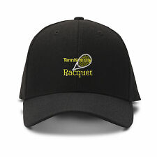 TENNIS IS MY RACQUET Embroidery Embroidered Adjustable Hat Baseball Cap