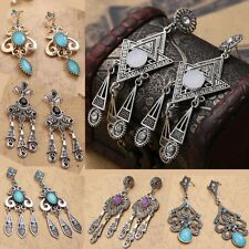 HOT Bohemian Style Vintage Drop Chandelier Dangle Long Beaded Woman's Earring