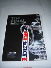 2005 FA CUP FINAL - ARSENAL v MANCHESTER UNITED - FOOTBALL PROGRAMME