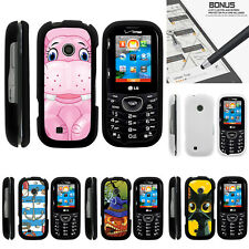For LG Cosmos 3 VN251S Case Hard Snap On 2 Piece Slim Shell Cartoons
